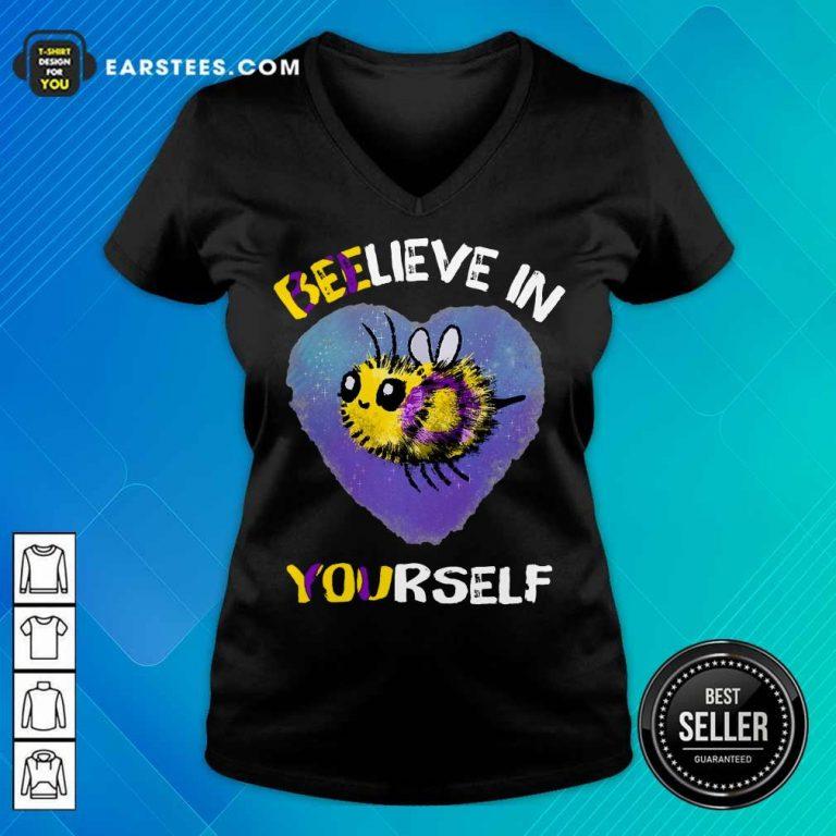 Top Bee Believe In Yourself Intersex V-Neck