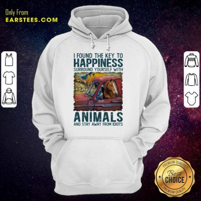 Top Horse I Found The Key To Happiness Animals Hoodie