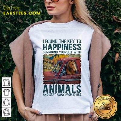 Top Horse I Found The Key To Happiness Animals V-Neck