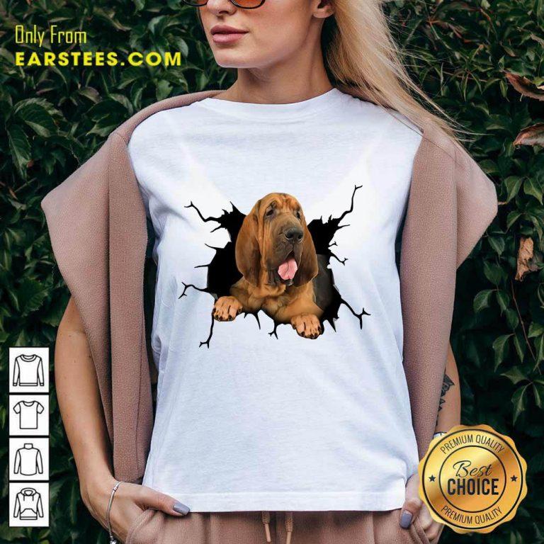 Top I Love Bloodhound V-Neck