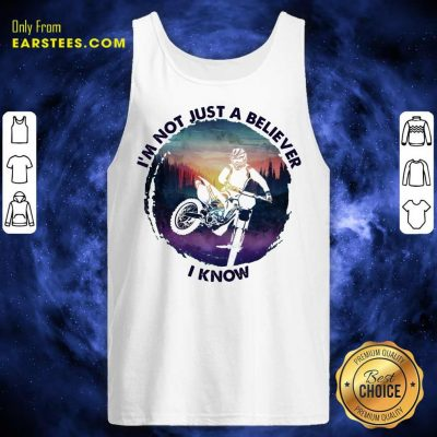 Top I'm Not Just A Believer Motocross Tank Top