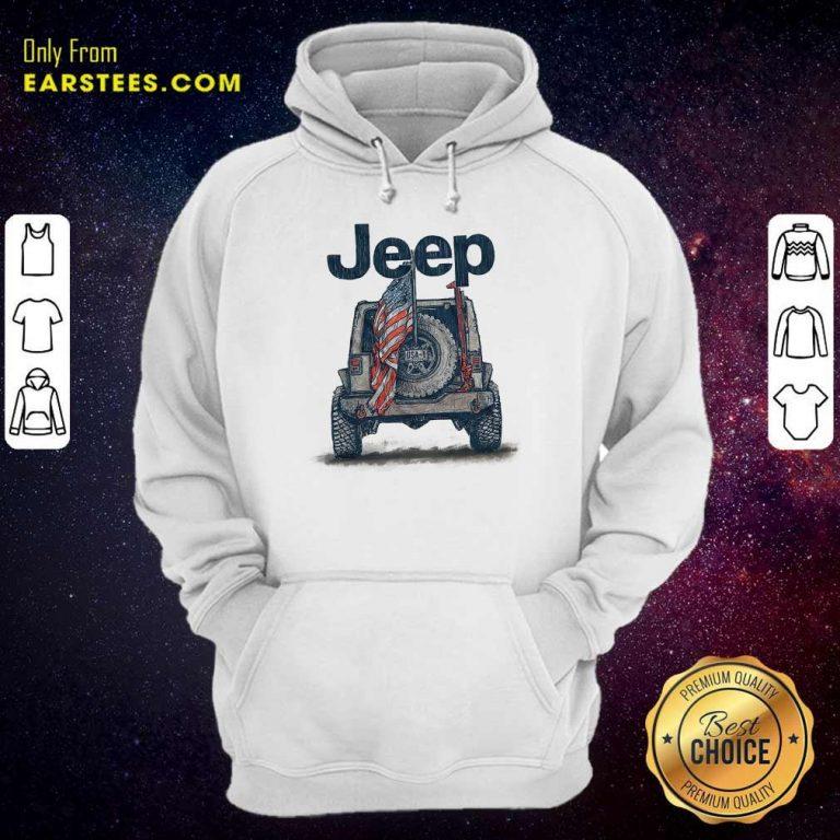 Top Jeep American Flag Hoodie