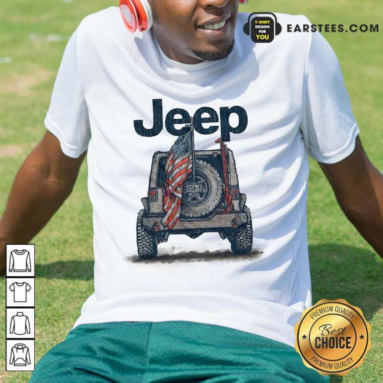 Top Jeep American Flag Shirt