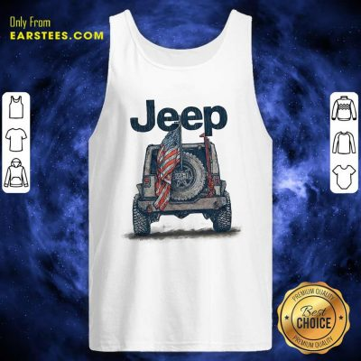 Top Jeep American Flag Tank Top