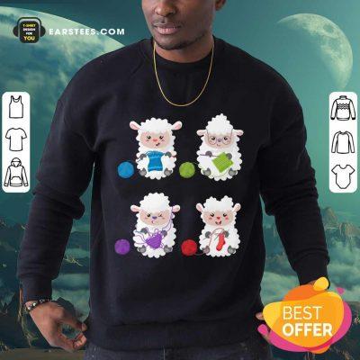 Top Sheep Knitting Lover Sweatshirt
