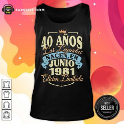 40 Anos Las Leyendas Junio 1981 Tank Top