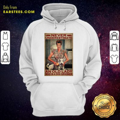 An Old Lady Who Is A Dog Groomer Poster Hoodie