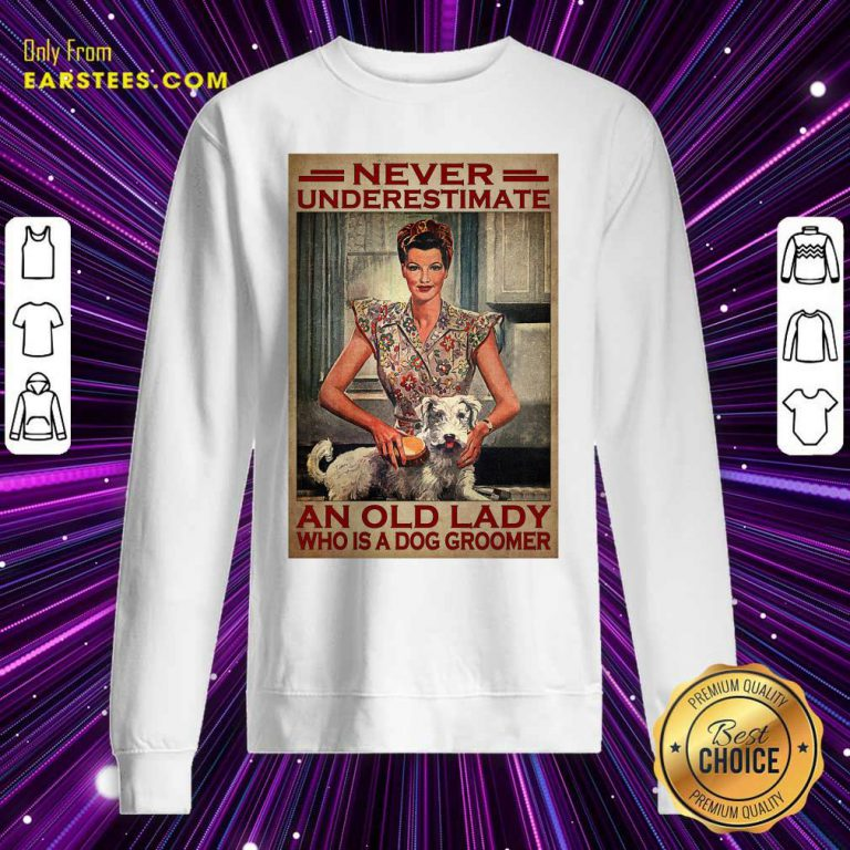 An Old Lady Who Is A Dog Groomer Poster Sweatshirt