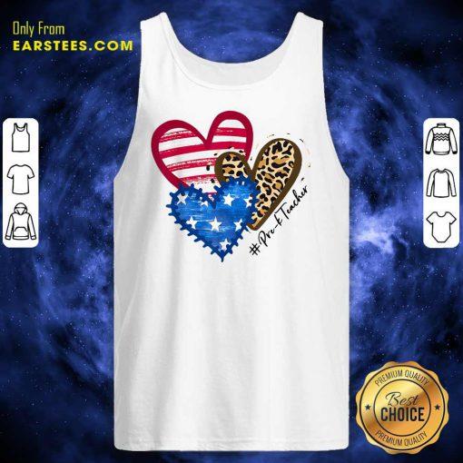 Heart USA Leopard Pre-k Teacher Tank Top