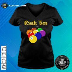 Hot Billiards Rack Em V-Neck