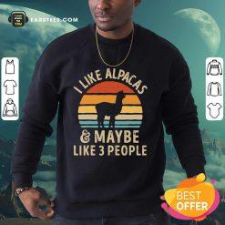 I Like Alpacas Vintage Sweatshirt