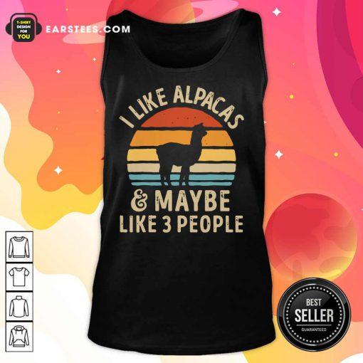 I Like Alpacas Vintage Tank Top