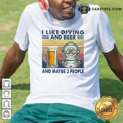 I Like Diving And Beer Vintage Shirt