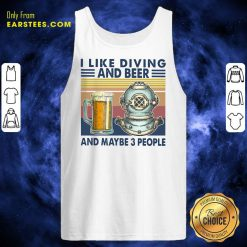 I Like Diving And Beer Vintage Tank Top