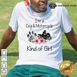 I'm A Dog And Motorcycle Flower Shirt