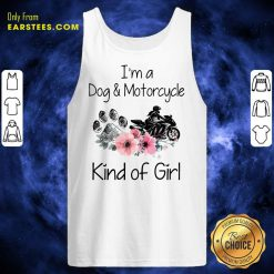I'm A Dog And Motorcycle Flower Tank Top