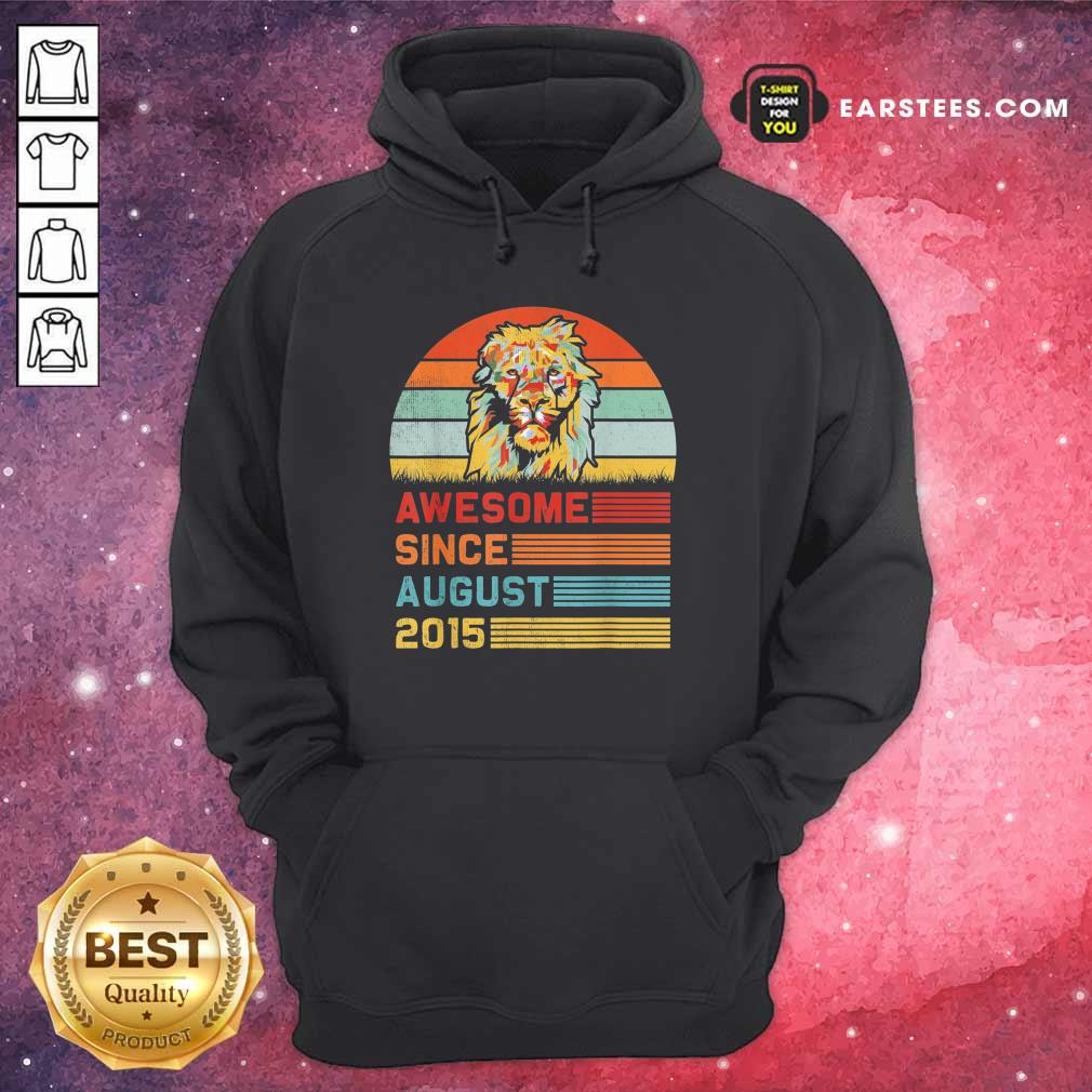 Lion Awesome Since August 2015 Vintage Hoodie