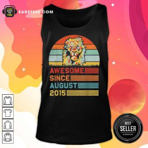 Lion Awesome Since August 2015 Vintage Tank Top