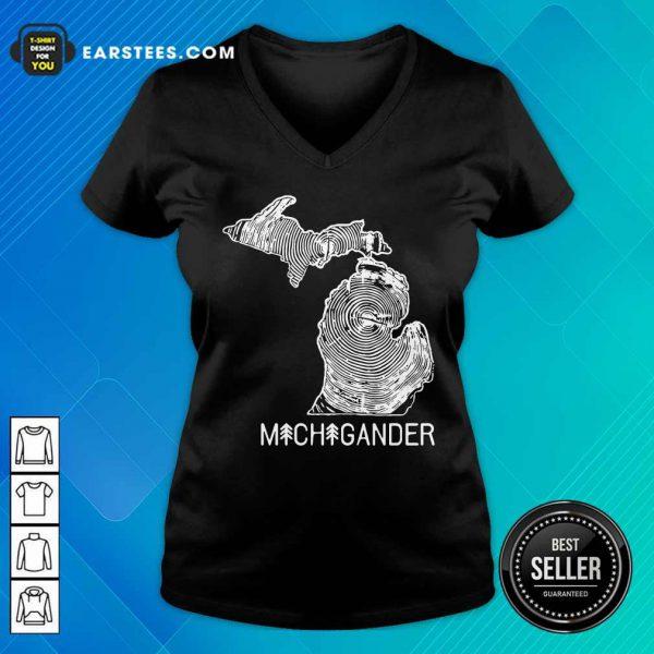 Michigander To The Core V-neck