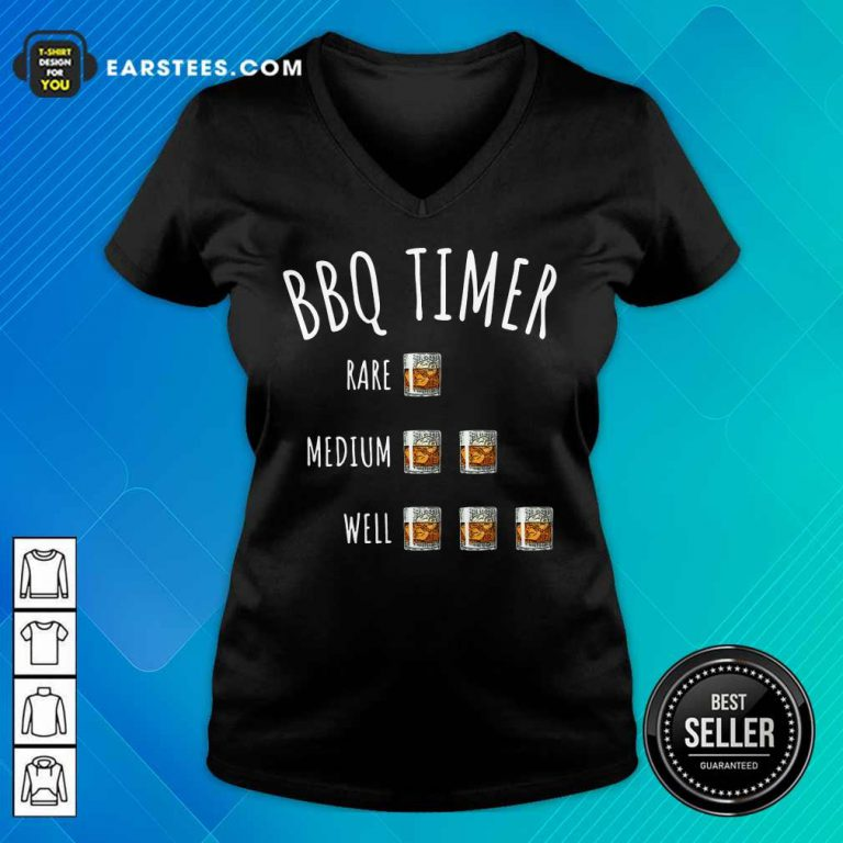 Nice BBQ Timer Rare Medium Well V-Neck