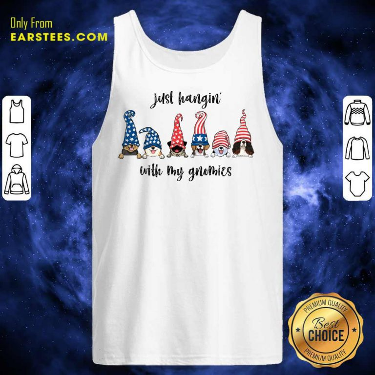 Nice Dogs Just Hangin' With My Gnomies Tank Top