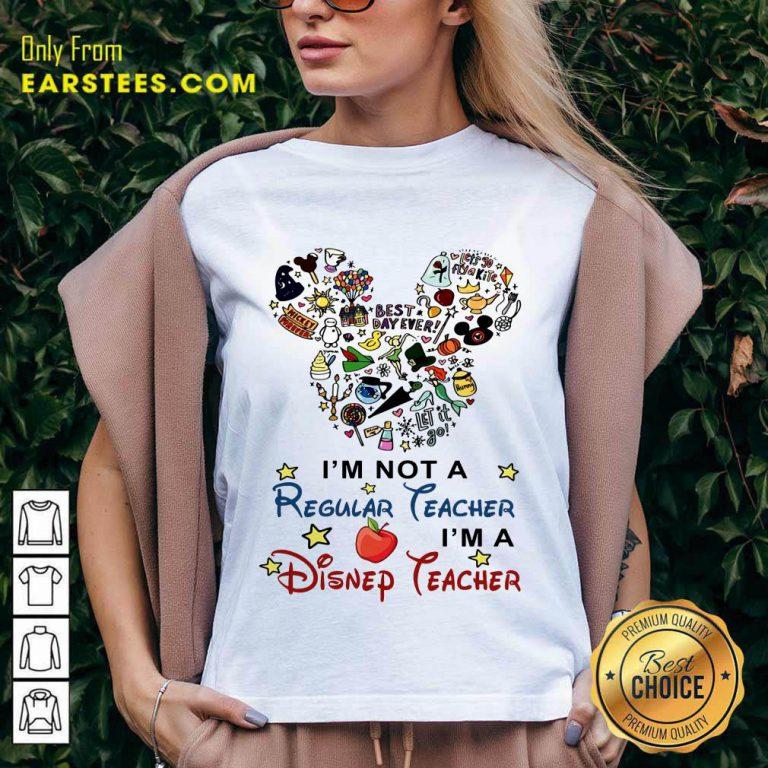 Nice I'm A Disney Teacher V-Neck