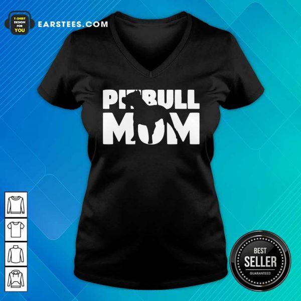 Nice Pitbull Mom V-neck