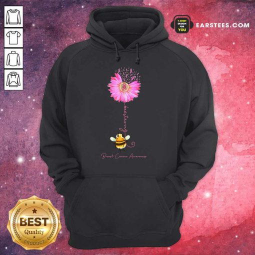 Top Bee Strong Breast Cancer Awareness Hoodie