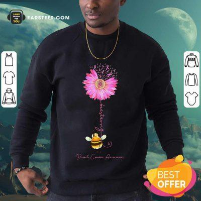 Top Bee Strong Breast Cancer Awareness Sweatshirt