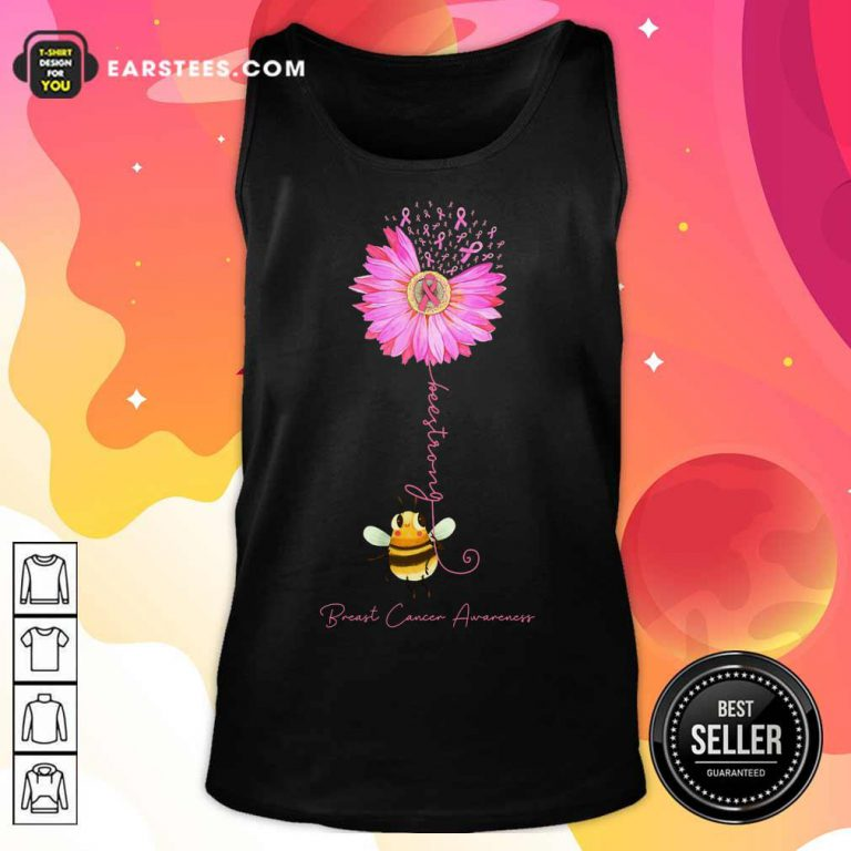 Top Bee Strong Breast Cancer Awareness Tank Top