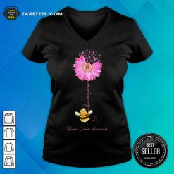 Top Bee Strong Breast Cancer Awareness V-Neck