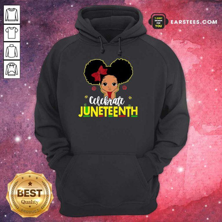 Top Black Girl Kids Juneteenth Hoodie