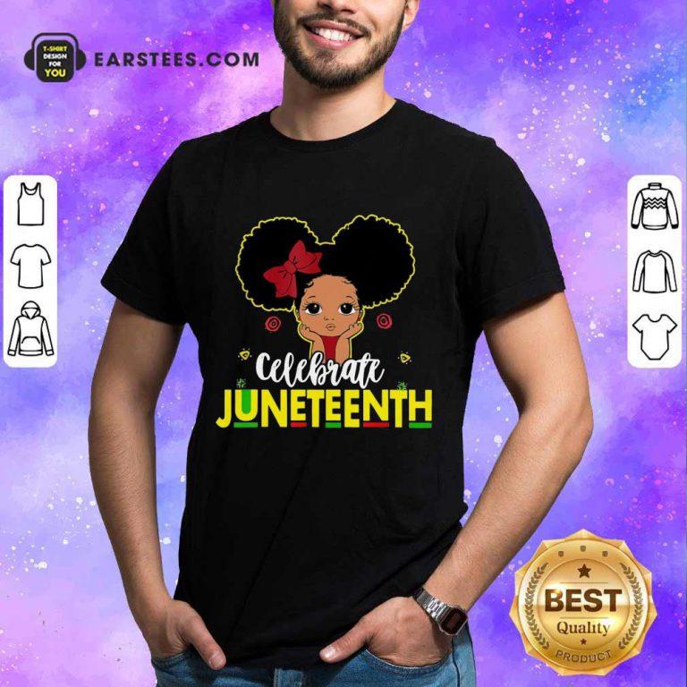 Top Black Girl Kids Juneteenth Shirt
