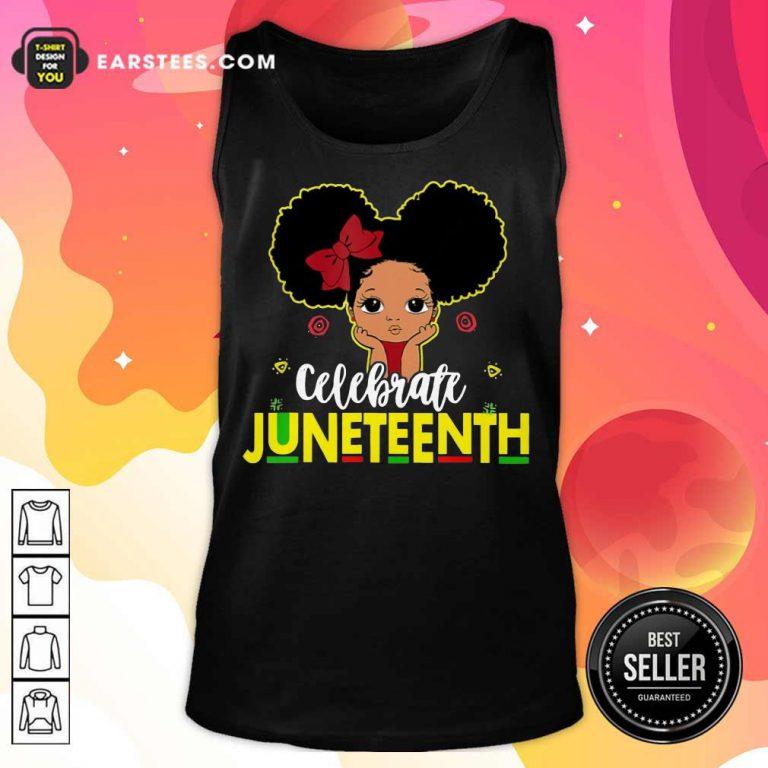 Top Black Girl Kids Juneteenth Tank Top
