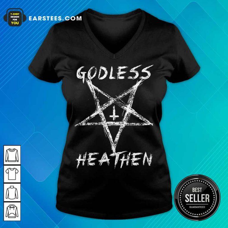 Top Godless Heathen Star V-Neck