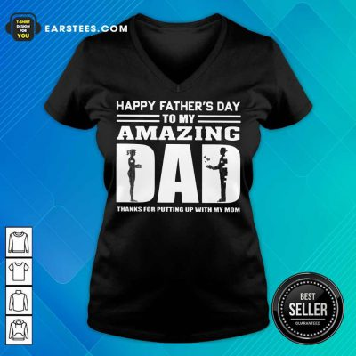 Top Happy Fathers Day Amazing Dad V-Neck