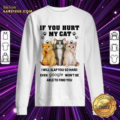 Top If You Hurt My Cat I Will Slap You Sweatshirt