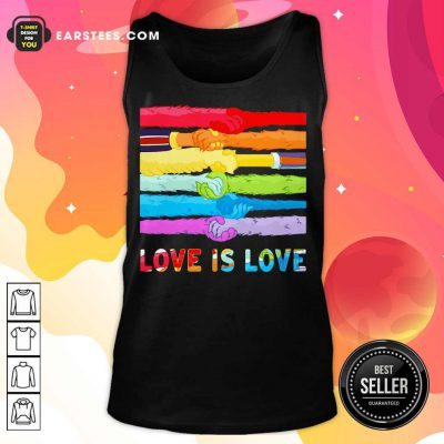 Top LGBT Love Is Love Hold Hand Tank Top