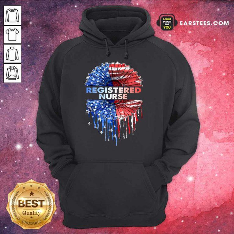 Top Registered Nurse American Flag Hoodie