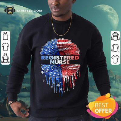 Top Registered Nurse American Flag Sweatshirt