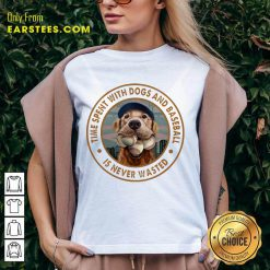 Top Time With Dogs And Baseball V-Neck