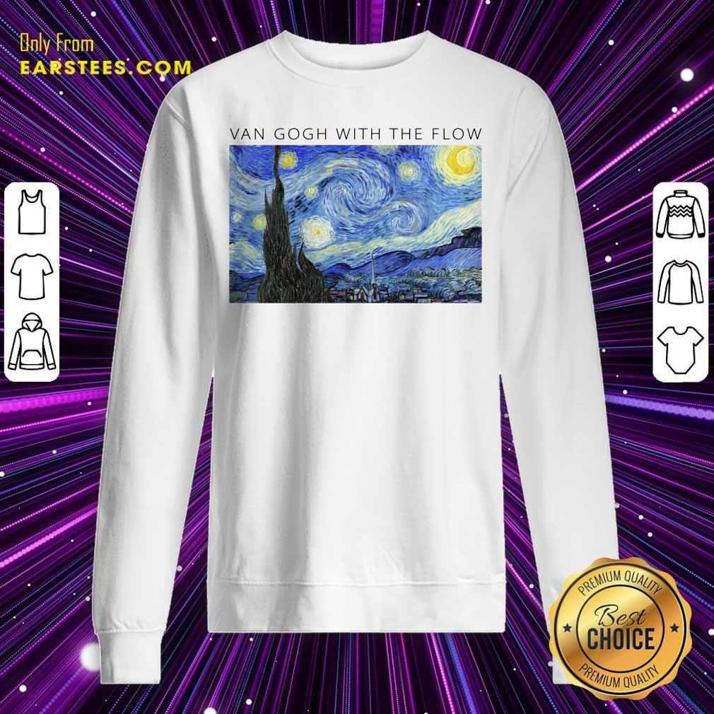 Top Van Gogh With The Flow Sweatshirt