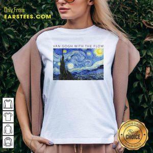 Top Van Gogh With The Flow V-neck