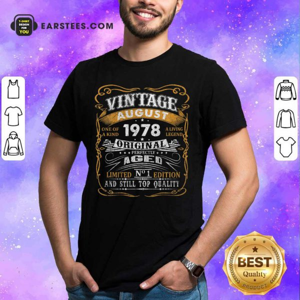 Vintage August 1978 43 Years Old 43rd Birthday Classic Shirt