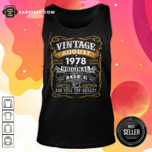 Vintage August 1978 43 Years Old 43rd Birthday Classic Tank Top