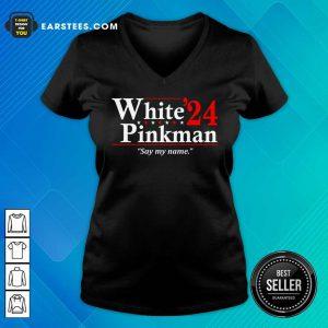 White Pinkman 2024 Say My Name V-neck