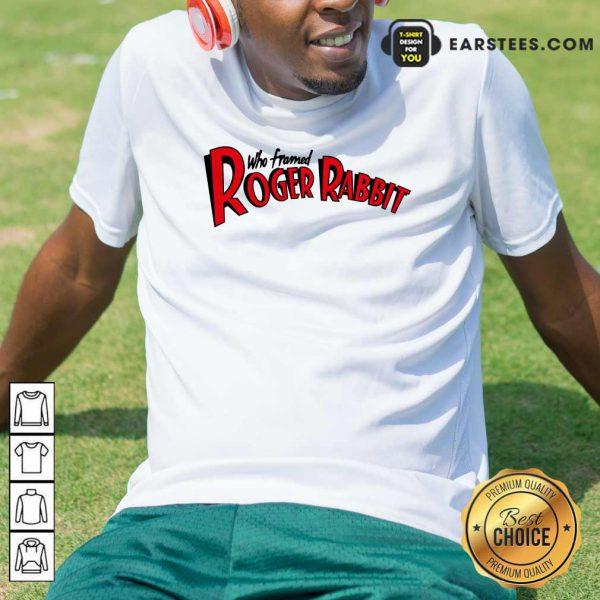 Who Framed Roger Rabbit Logo Ringer Shirt