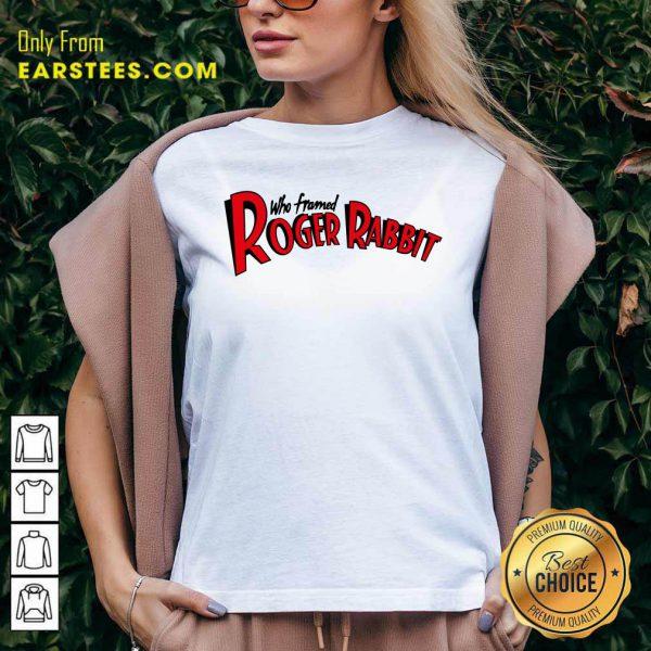 Who Framed Roger Rabbit Logo Ringer V-neck
