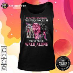 Wolf Walk Alone Breast Cancer Awareness Tank Top