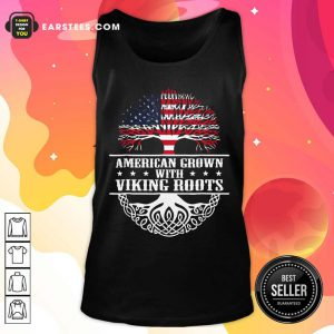American Grown With Viking Roots American Flag Tank Top